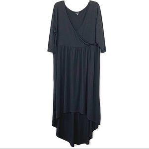 Torrid black faux wrap hi-lo maxi dress